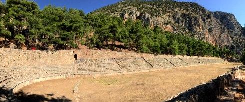 ruinas estadio de Delfos