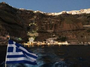 saliendo de Fira, Santorini