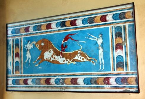 Salto del toro, Palacio de Cnossos