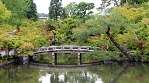 Templo Eikan-do, jardines