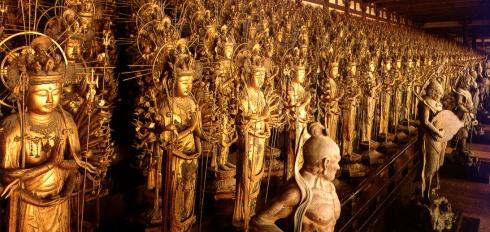 Templo Sanjusangendo, estatuas kannon