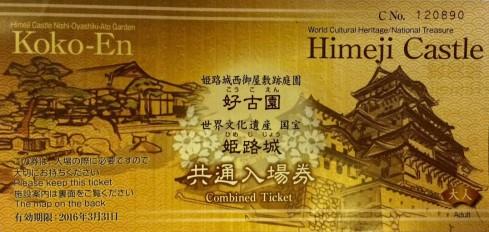 ticket castillo Himeiji