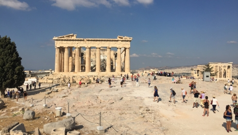 Vista Parthenon desde detras
