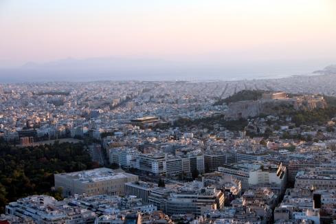 vistas Atenas desde Licabeto