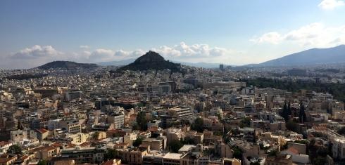 vistas Atenas desde Partenon
