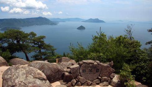 vistas, monte misen, Miyajima 2