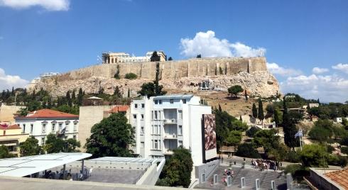 vistas Partenon, desde museo Acropolis