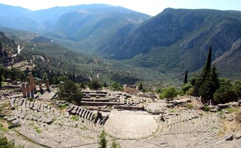 zona arqueológica, teatro Delfos
