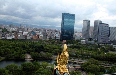 Castillo Osaka, vistas