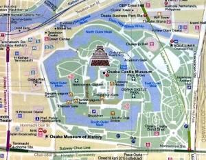 mapa castillo Osaka