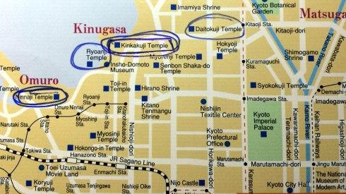 mapa noroeste Kioto, Pabello dorado 2