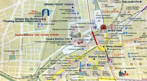Shin Umeda city, mapa