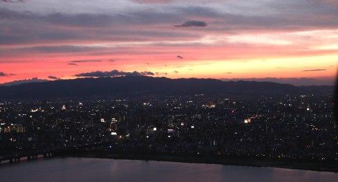 Shin Umeda city, Osaka, vistas nocturnas