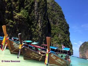 barcos en Maya Bay - Tailandia