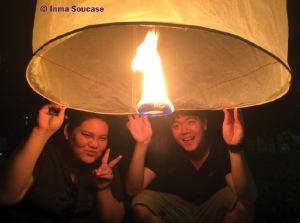 faroles luz amigos thai - Yi Peng - Chiang Mai