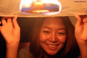 faroles luz chica - Yi Peng - Chiang Mai