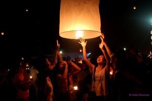 faroles luz - Yi Peng - Chiang Mai