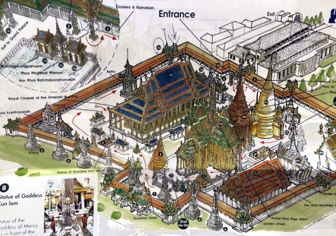 Gran Palacio Bangkok - mapa