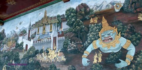 Gran Palacio Bangkok - pintura mural