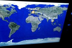 itinerario pantalla avion