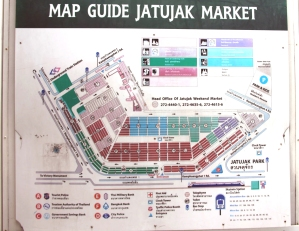 mercado Chatuchak - mapa