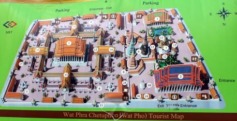 Wat Pho - mapa
