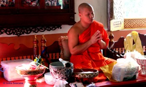 Wat Phrasingh, Chiang Mai - monje budista