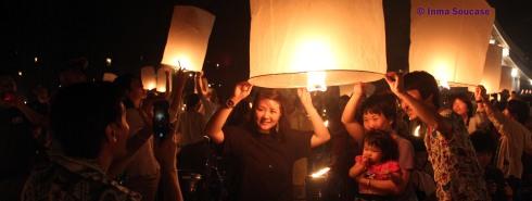 Yi Peng en Chiang Mai - lanzamiento