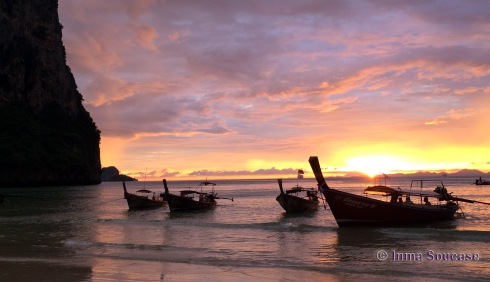 atardecer Railay beach en Krabi