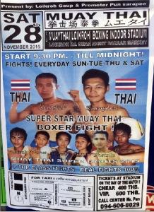 cartel combate Muay Thai