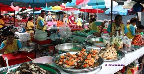 Chinatown Bangkok - puestos comida calle