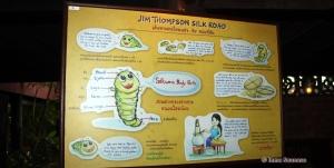 Jim Thompson casa museo - panel informacion seda