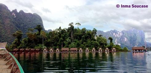 Lago Cheow Lan, cabañas flotantes