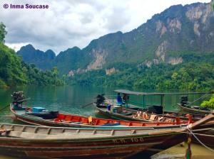 Lago Cheow Lan, embarcadero Coral Cave