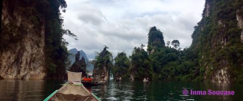 Lago Cheow Lan, islotes centrales