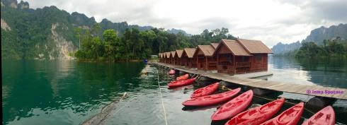 Lago Cheow Lan, kayak y cabañas flotantes