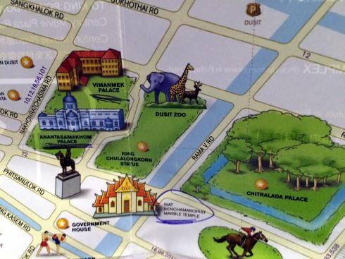 mapa norte Bangkok - figuras