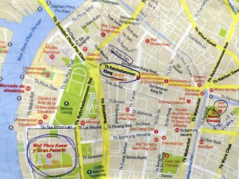 mapa oeste Bangkok