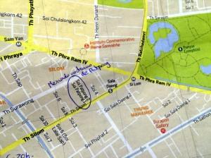mapa sudeste Bangkok