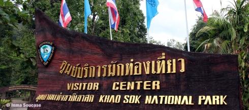 parque nacional Khao sok - entrada centro visitantes