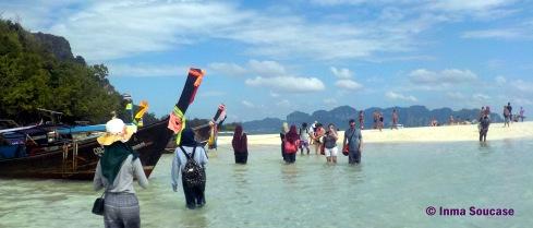 Volviendo a Poda island desde Tub island
