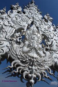 Wat Rong Khun - buda blanco detalle