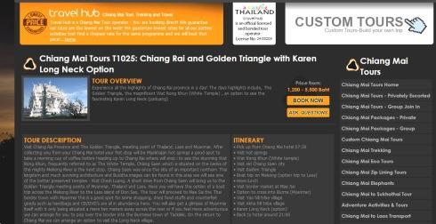 web Travel hub - excursion chiang rai